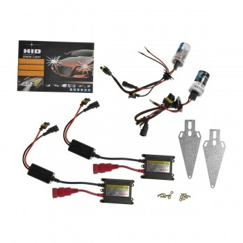 Ideapro 55w HID Xenon Conversion Kit with Digital Ballasts Multiple Sizes and Colors (9006, 6000K)
