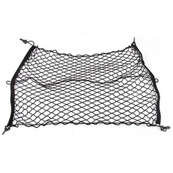 "IDEAPRO® Car Rear Cargo Net Multipurpose Elastic Bungee Trunk Luggage Cargo Storage Network Organizer Net Auto Interior Storage Mesh with Mounting Screw (39"" X 27"")"