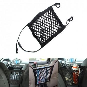 "Aokland Universal Car Seat Storage Mesh/Organizer Auto Pocket Luggage Hooks Organizer Seat Bag Hook Hanger Holder Pocket Bag Cage Mesh ( 11.8"" x 9.8"" )"