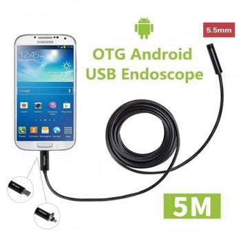 Ideapro USB Waterproof Endoscope Borescope 5.5mm 5M HD 6LED Handheld Borescope D