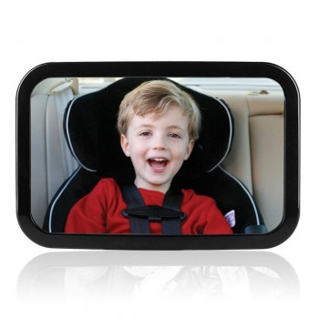 Ideapro BackSeat Mirror - Adjustable Baby Safety Mirror for Rear Facing Infant Car Seats Lightweight Heavy-Duty Plastic Construction Extra Large View Big and Clear Convex Shatterproof Mirror