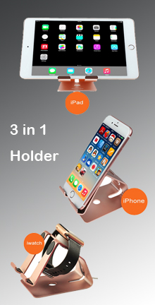 3 in 1 Stand for iPhone iPad iWatch